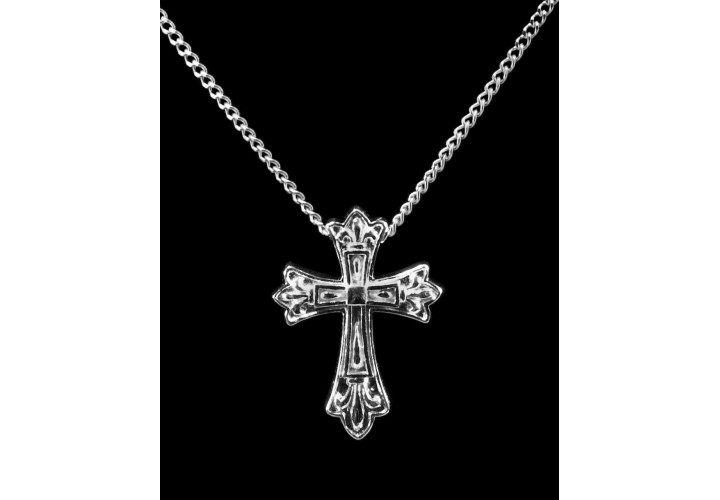 Sterling Silver Fleur de Lis Cross Cremation Pendant #36-573 • $129